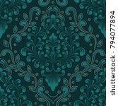 vector damask seamless pattern... | Shutterstock .eps vector #794077894