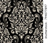 vector damask seamless pattern... | Shutterstock .eps vector #794077897