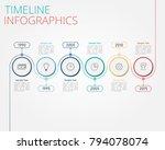 timeline infographics template... | Shutterstock .eps vector #794078074