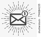 icon of new mail envelope. one... | Shutterstock .eps vector #794084155