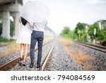 attractive lover couple in... | Shutterstock . vector #794084569