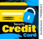 security money on credit card.... | Shutterstock .eps vector #794086321