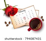 14 february calendar with red... | Shutterstock .eps vector #794087431
