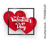 valentines day sale concept.... | Shutterstock .eps vector #794088169