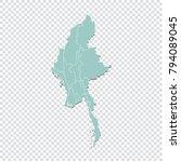 myanmar map   high detailed...   Shutterstock .eps vector #794089045