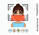 face recognition and... | Shutterstock .eps vector #794089099