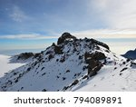 sunrise from top of kilimanjaro ... | Shutterstock . vector #794089891