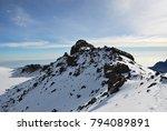 sunrise from top of kilimanjaro ... | Shutterstock . vector #794089891