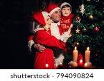 family awaiting christmass ... | Shutterstock . vector #794090824