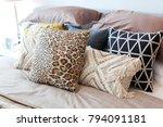 tribal pattern cushion setting...   Shutterstock . vector #794091181