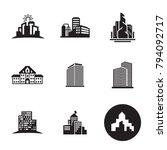buildings icons set | Shutterstock .eps vector #794092717