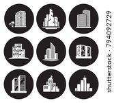 buildings icons set | Shutterstock .eps vector #794092729