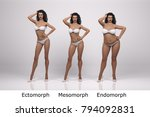 3d standing female model with 3 ... | Shutterstock . vector #794092831