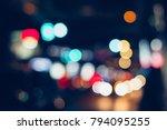 colorful defocused bokeh... | Shutterstock . vector #794095255