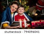 family awaiting christmass ... | Shutterstock . vector #794096041