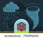 home insurance against natural... | Shutterstock .eps vector #794096341