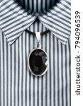 black onyx medallion on black... | Shutterstock . vector #794096539