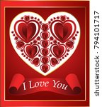 greeting card with heart  red... | Shutterstock .eps vector #794101717