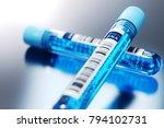 molecule of dna forming inside...   Shutterstock . vector #794102731