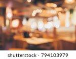 restaurant cafe or coffee shop...   Shutterstock . vector #794103979