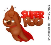 super hero poop emoticon icon... | Shutterstock .eps vector #794107831
