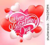 happy valentine's day. vector...   Shutterstock .eps vector #794109394