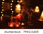 beautiful romantic composition... | Shutterstock . vector #794111605