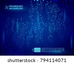 high tech technology background ... | Shutterstock .eps vector #794114071