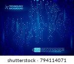 high tech technology background ...   Shutterstock .eps vector #794114071