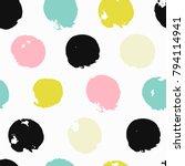 trendy vector seamless pattern... | Shutterstock .eps vector #794114941