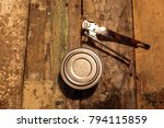 Small photo of Canned goods with tin opener