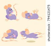 Rat  Mouse  Cartoons Set
