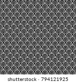 seamless background of ovals... | Shutterstock .eps vector #794121925