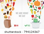healthy lifestyle concept....   Shutterstock .eps vector #794124367