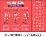 business success infographic... | Shutterstock .eps vector #794126311