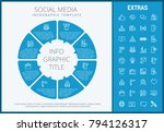 social media infographic... | Shutterstock .eps vector #794126317