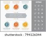 winter sport infographic... | Shutterstock .eps vector #794126344
