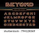 vector of futuristic alphabet... | Shutterstock .eps vector #794128369