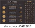 healthy food infographic... | Shutterstock .eps vector #794129227