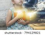 new testament psalms . little... | Shutterstock . vector #794129821