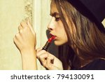fashionable young sexy woman or ... | Shutterstock . vector #794130091