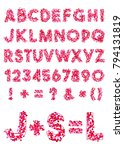 vector alphabet of various... | Shutterstock .eps vector #794131819