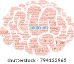 addiction word cloud on a white ... | Shutterstock .eps vector #794132965