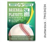 baseball poster vector.... | Shutterstock .eps vector #794134234