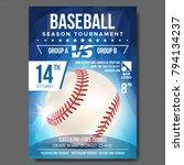 baseball poster vector. sport... | Shutterstock .eps vector #794134237