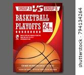 basketball poster vector....   Shutterstock .eps vector #794134264
