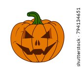 pumpkin for helloween  | Shutterstock .eps vector #794134651