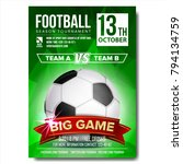 soccer poster vector. football... | Shutterstock .eps vector #794134759