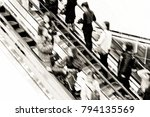 motion escalators at the modern ... | Shutterstock . vector #794135569