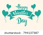 valentines day illustrations... | Shutterstock .eps vector #794137387